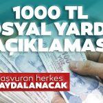 1000 TL yardım başvurusu nasıl yapılır? Sosyal yardım başvuru şartları neler?